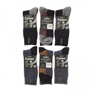 [6 Pack] Holeproof Explorer Extreme Impact Cotton Blend Sock...