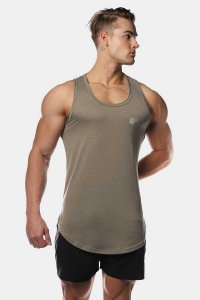 Jed North Vital Muscle Top T Shirt Grey JNTOP041
