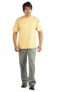 Litex Plain Short Sleeved T Shirt 102 Yellow 67793