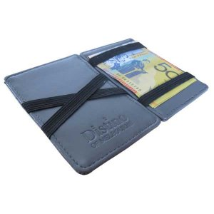 Distino Of Melbourne Leather Flip Wallet Grey FWALLET