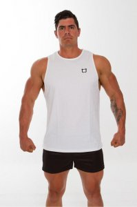Twotags Solid Muscle Top T Shirt White