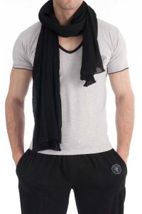 L'Homme Invisible Sarong Scarf Black AC01-SCA-001