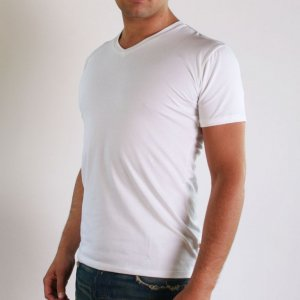 [2 Pack] Ramatuelle Basic V Neck Short Sleeved T Shirt White