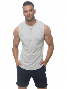 Marcuse Hero Muscle Top T Shirt Grey