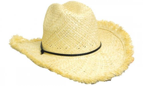 Headwear Professional Frayed Edge Cowboy Straw Cap S4280