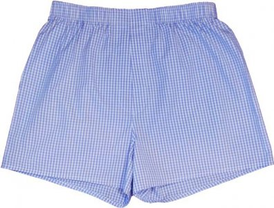 Charlie Dog The Brett Checks Loose Boxer Shorts Underwear White/Blue 188-951