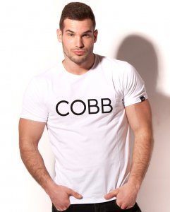 Alexander Cobb Solid Short Sleeved T Shirt White 5C-13