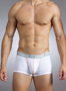 Baskit Action Cool All Mesh Low Rise Trunk White Underwear M3400