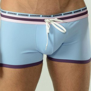 Geronimo Square Cut Trunk Swimwear Light Blue/Purple 1626B1-8
