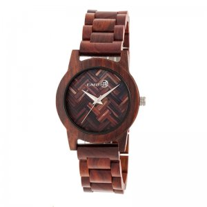 Earth Wood Crown Bracelet Watch - Red ETHEW4503