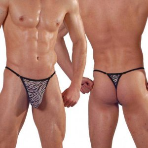 Don Moris Zebra Thong Underwear DM140556