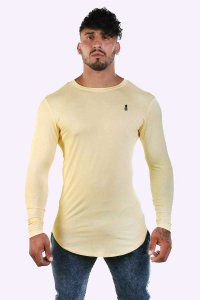 JJ Malibu Essential Long Sleeved T Shirt Blonde JJTOP034