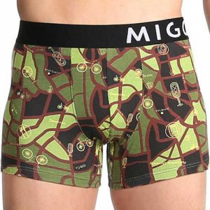 MIGO Maps Boxer Brief Underwear Green