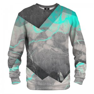 Mr. Gugu & Miss Go Marble Cyan Unisex Sweater S-PC715