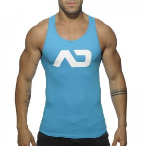 Addicted Basic AD Tank Top T Shirt Turquoise AD457