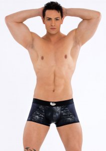 Eros Veneziani Cracked Boxer Brief Underwear Black 7247