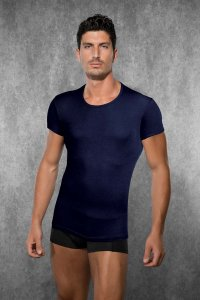 Doreanse Solid Short Sleeved T Shirt Navy 2545