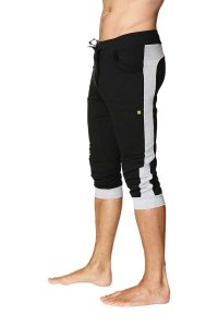 4-rth Cuffed Yoga 3/4 Pants Black/Grey