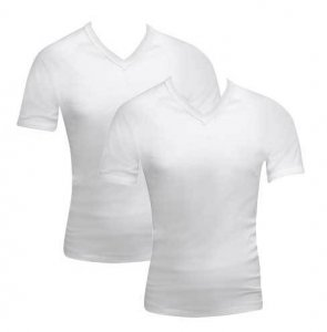 [2 Pack] Bonds V-Neck Raglan Short Sleeved T Shirt White 39762W