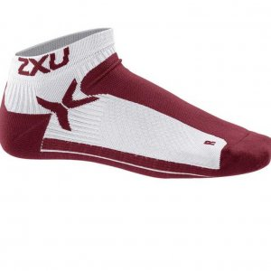 2XU Peformance Low Rise Socks Burgundy MQ1903E