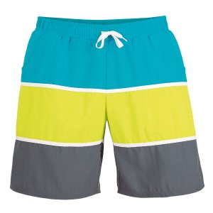Litex Multicolor Mesh Lined Shorts Swimwear Petroleum/Kiwi G...