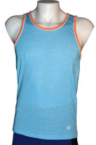 Sauvage Ringer Tank Top T Shirt Aqua/Orange