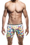 MaleBasics Hipster Boxer Brief Underwear Green Pixels MB202