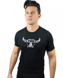 The Well Branded Bull Icon Basex Short Sleeved T Shirt Black/Silver