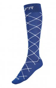Litex Riders Criss Cross Knee Socks Blue J2008