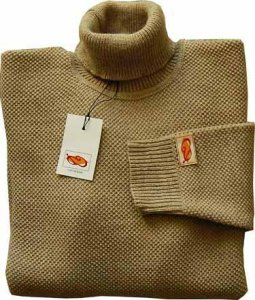 Elle Creazioni Turtle Neck Rise Stitch Sweater Sand
