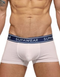 Supawear Supadupa Trunk Boxer Brief Underwear White