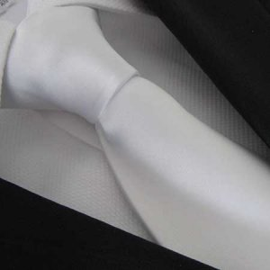 Distino Of Melbourne Polyester Bianco Pianura Necktie White ...