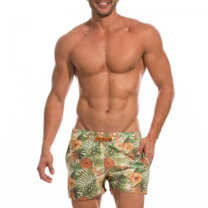 Mundo Unico Surf Hibiscus Palenque Shorts Swimwear Green 17103750