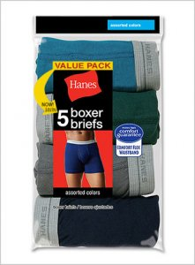 Hanes [5 Pack] Comfort Flex Waistband Boxer Brief Underwear ...