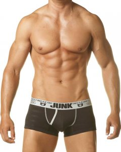 Junk Underjeans Breeze Trunk Underwear Black/Grey MB20012