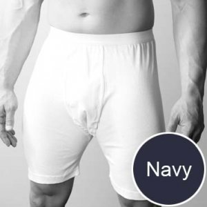 Players Big Man's Cotton Mid Length Long Boxer Underwear Navy
