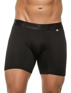 Xtremen Stripe Microfiber Boxer Brief Underwear Black 51388