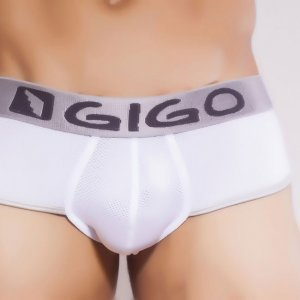 Gigo SHEEN WHITE Brief Underwear
