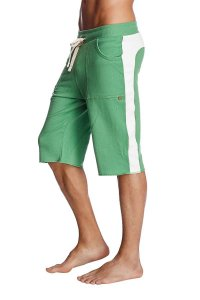 4-rth Eco Track Shorts Bamboo Green/White