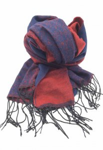Spy Henry Lau Unisex Two Tone Sunrise Romance Scarf Red/Blue...