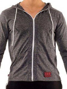 Jack Adams Urban Long Sleeved Hoodie Sweater Snow Black 404-104