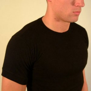 Ajaxx63 Athletic Fit Barefront Short Sleeved T Shirt Black BAS06