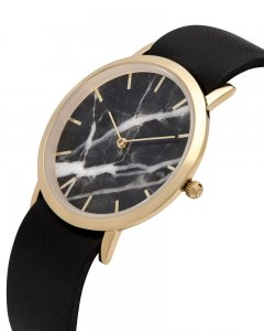 Analog Watch Classic Black Marble Dial & Black Strap Watch G...