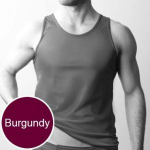 Players Nylon Tricot Tank Top T Shirt Burgundy