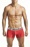 MaleBasics Comfort Trunk Boxer Brief Underwear Red MB001