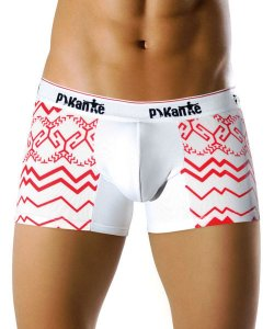 Pikante Boutique Boxer White/Red 8306 USA1