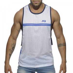 Addicted Sporty Tank Top T Shirt Blue AD555