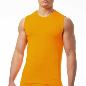 Papi Sport Muscle Top T Shirt Neon Orange 626805-827