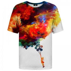 Mr. Gugu & Miss Go With Balloons To Galaxy Unisex Short Sleeved T Shirt TSH1176