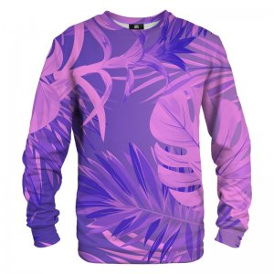Mr. Gugu & Miss Go Tropical Violet Unisex Sweater S-PC1279